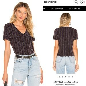 REVOLVE x House of Harlow 1960 Lora Top in NoirXXS